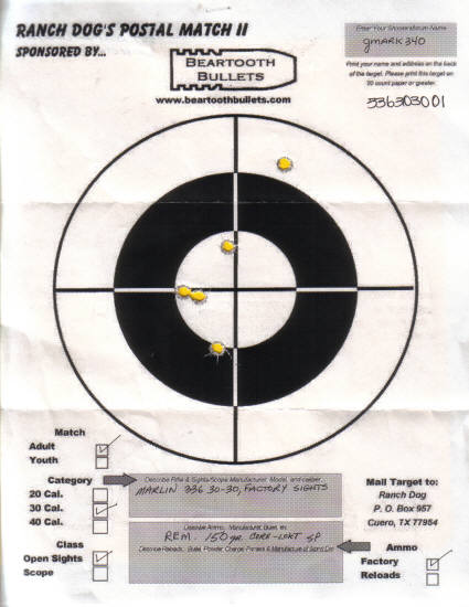 Adult Match: 30 Cal., Open Sights, Factory Ammo