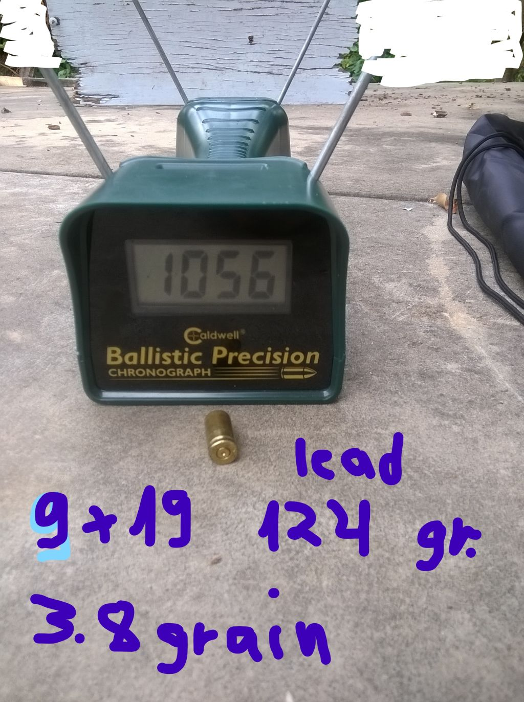 Reload data for 9mm Luger with 12 ga scavenged powder used